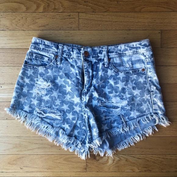 Mossimo Supply Co. Pants - Distressed Denim Star Daisy Duke Shorts